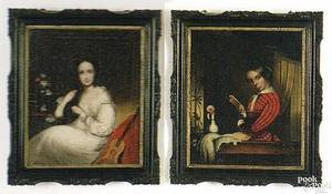 Two China Trade oil on canvas portraits early 19th c