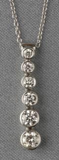 Platinum and Diamond Jazz Pendant Tiffany  Co