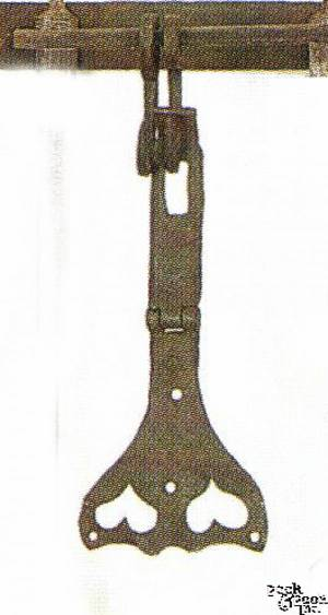 Fine Pennsylvania wrought iron hasp ca 1800