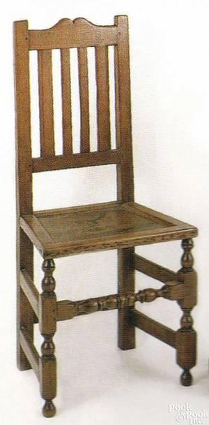 Chester County Pennsylvania walnut wainscot chair ca 1720