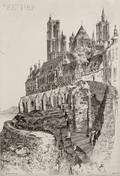 John Taylor Arms American 18871953 Two Architectural Views Notre Dame de Lan