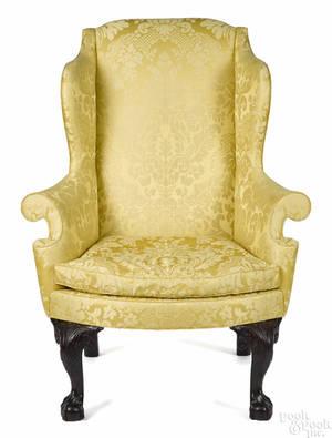 Frank Auspitz York Pennsylvania Chippendale style mahogany easy chair