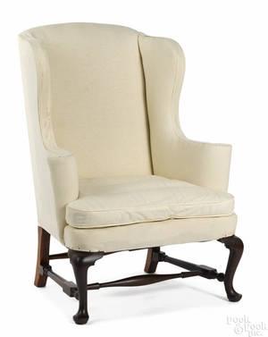 Frank Auspitz York Pennsylvania Queen Anne style maple easy chair