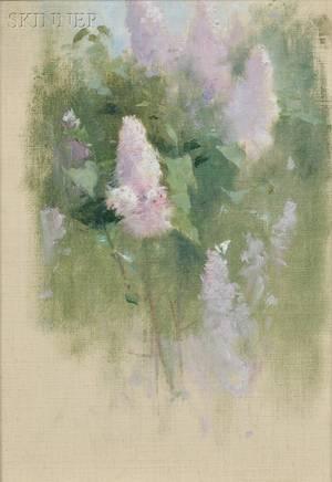 Emil Soren Emil Carlsen American 18481932 Study of Lilacs in Bloom