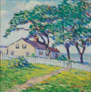Lillian Burk Meeser American 18641942 Cape Ann Cottage