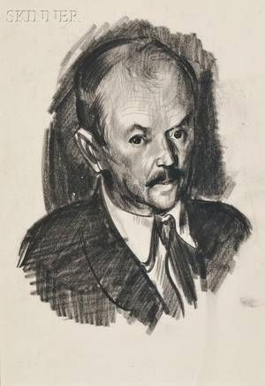 George Wesley Bellows American 18821925 Portrait of Charles Rosen