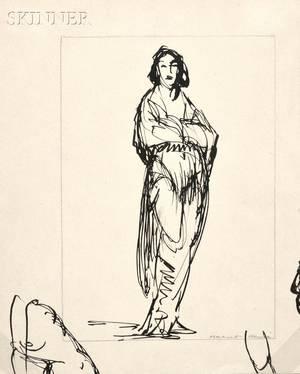 Robert Henri American 18651929 Figure of a Woman