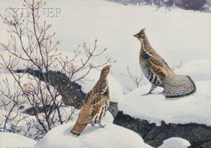 Aiden Lassell Ripley American 18961969 Grouse and Winter Food