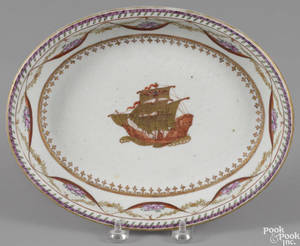Chinese export porcelain serving dish early 19th c