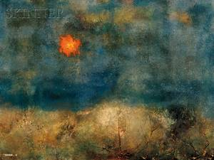 Leonardo M Nierman Mexican b 1932 Imaginary Landscape