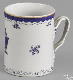 Chinese export porcelain mug ca 1800