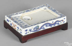 Chinese Qing dynasty porcelain ink stone