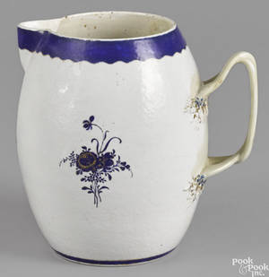 Chinese export porcelain armorial cider pitcher ca 1800