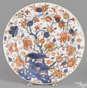 Chinese porcelain Imari palette charger 18th c