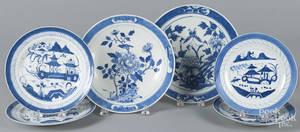 Two blue and white Imari porcelain plates