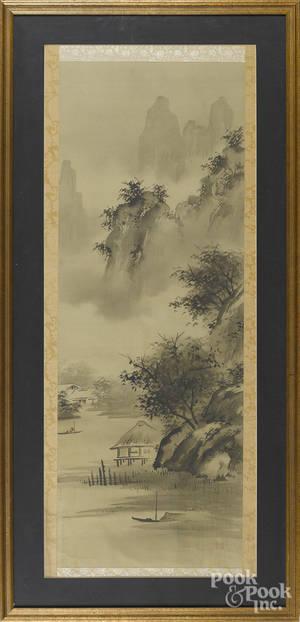 Japanese watercolor scroll