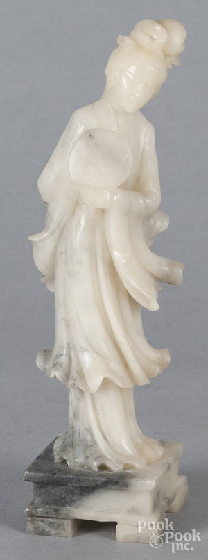 Chinese carved hardstone Guanyin