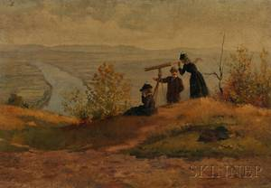 James Wells Champney American 18431903 View from Mount Sugarloaf South Deerfield Massachusetts