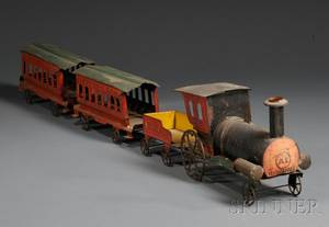 Polychromepainted Tin Toy Train