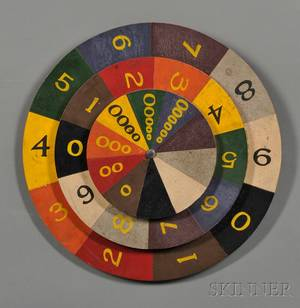 Polychromepainted Wheel of Chance