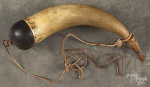 Carved powder horn