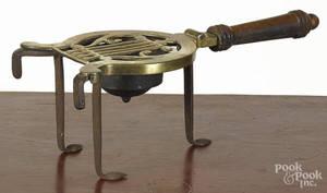 English brass and iron trivet
