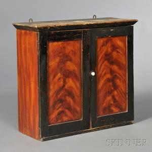 Grainpainted Pine Hanging Cupboard