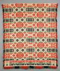 Fourcolor Woven Wool and Cotton Biederwand Coverlet
