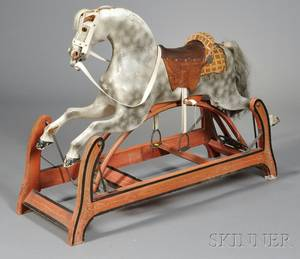 Painted Wood Appaloosa Rocking Horse
