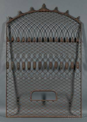 Cast Iron and Wirework Window Grate