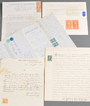 Group of IRS Stamped Documents Relating to the New Bedford Massachusetts Area