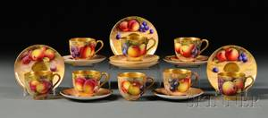 Royal Worcester Demitasse Cups and Saucers