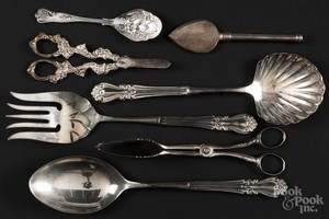 Silverplated serving utensils
