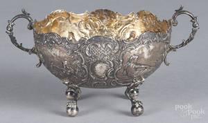 German repouss silver bowl