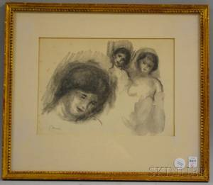 After Pierre Auguste Renoir French 18411919 La Pierre au Trois Croquis
