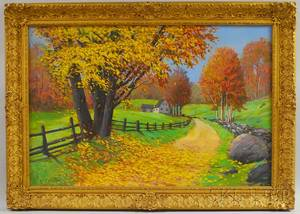 George Forest Payne American 20th Century Path in a Fall Landscape