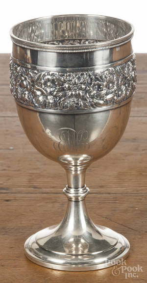 Tiffany  Co sterling silver goblet
