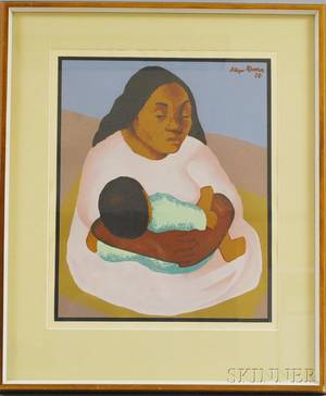 After Diego Rivera Mexican 18861957 Mother and Child