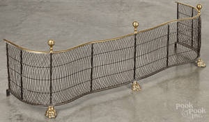 Federal brass and wire fire fender