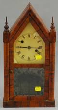 Rosewood Veneered Miniature Steeple Clock