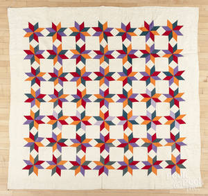 Vibrant patchwork star quilt