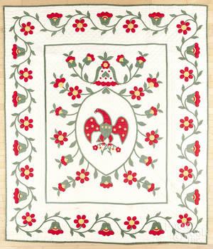 Floral appliqu quilt