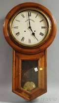 B Edward Maple Case Wall Clock