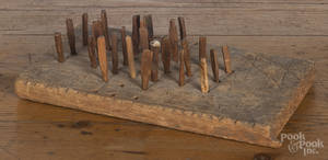 Primitive carved gameboard
