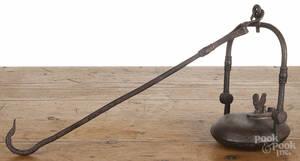 Wrought iron Betty lamp