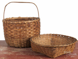 Two splint gathering baskets