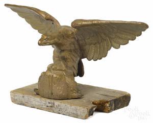 Cast iron pilot house eagle