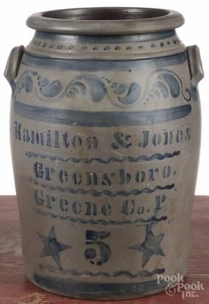 Pennsylvania fivegallon stoneware crock