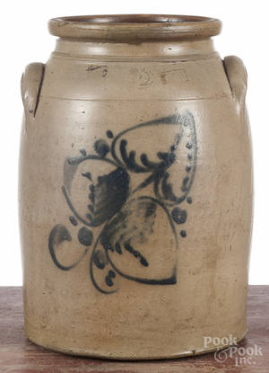 New York twogallon stoneware crock