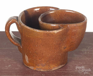 Pennsylvania redware shaving mug